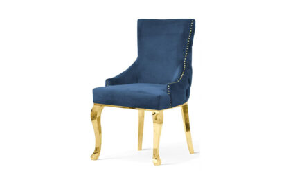 Polsterstuhl Chesterfield Edward Glamour gold- blau