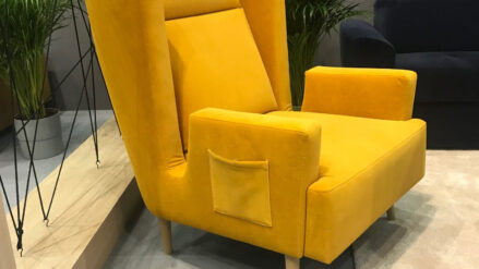 Designer Sessel gelb gordon- matt velvet 48