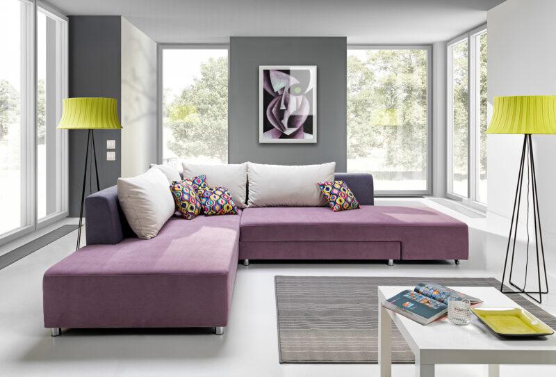 designer Ecksofa mit Bettfunktion Split grosse