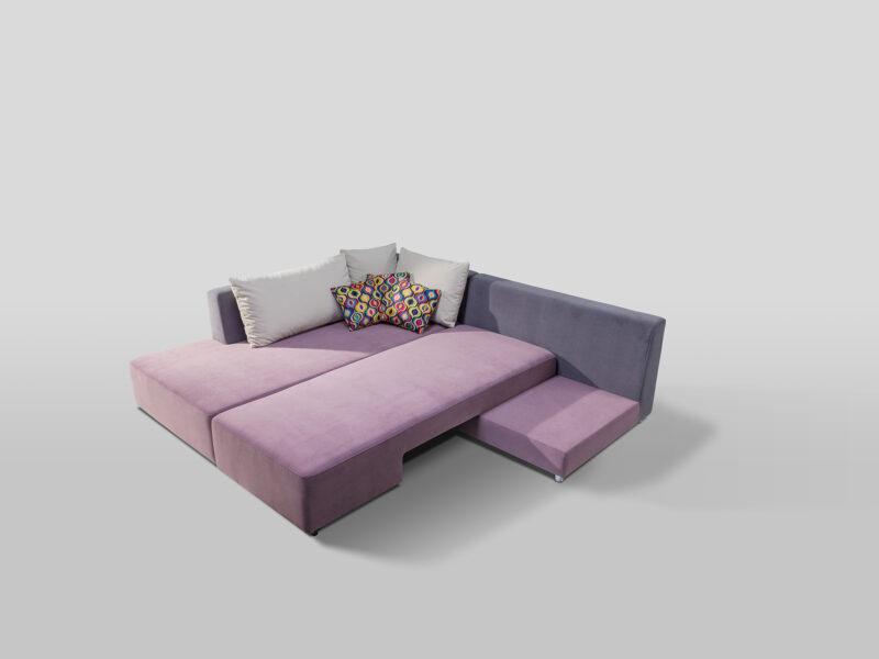 designer Ecksofa mit Bettfunktion Split 3 color