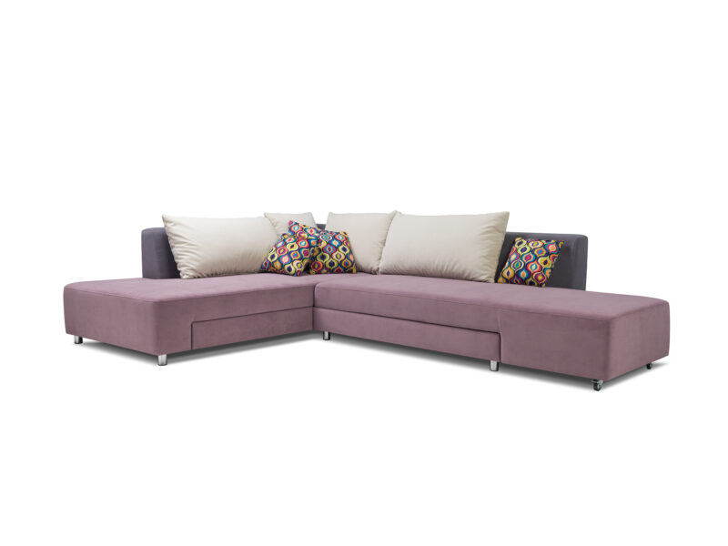 designer Ecksofa mit Bettfunktion Split 3 farbe