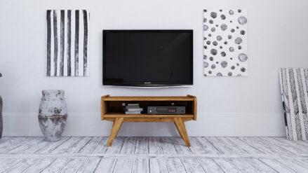 TV-Schrank Eiche massiv Retro Simple