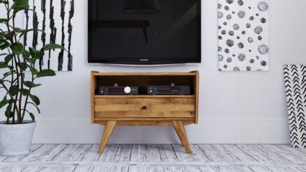 TV-Schrank Eiche massiv Retro 80x40 cm