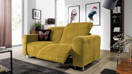 Sofa mit Relaxfunktion Lotta gelb