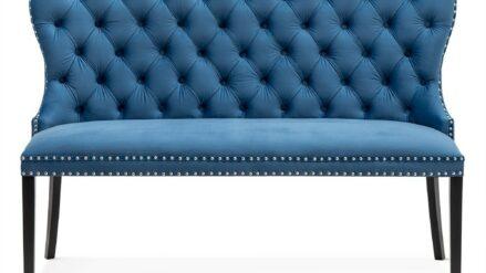 Sitzbänk Chesterfield Madame samt blau rosa