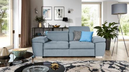 Sofa mit verstellbaren Kopfstützen bettfuntion und bettkasten Rosso