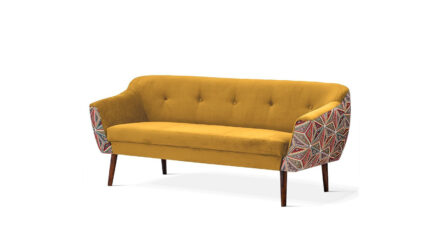 3-Sitzer Sofa gelb Bergamo