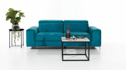 Sofa samt blau mit Kopfteilverstellung Genova 3 2