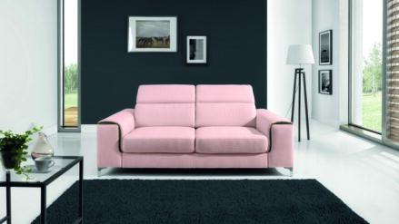 Sofa rosa mit Kopfteilverstellung Genova 2 3