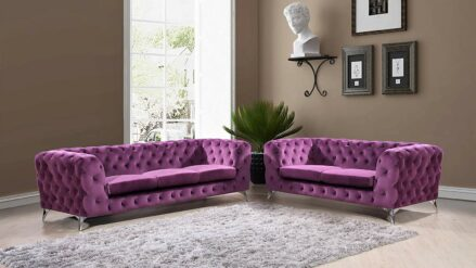 Sofa Chesterfield Losangeles 2 3 violett