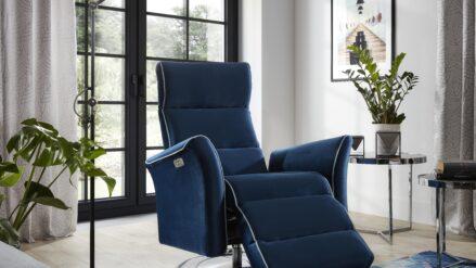 Relaxsessel elektrisch verstellbar Livio samt blau