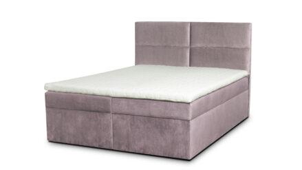 Boxspringbett mit Bettkasten Figaro samt rosa