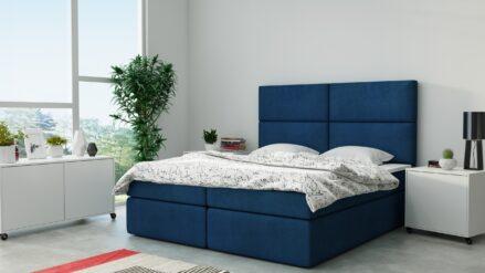Boxspringbett mit Bettkasten Figaro samt blau