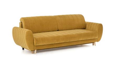 Schlafsofa gelb mit Bettkasten Line