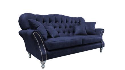 Chesterfield Sofa 2-Sitzer Elizabeth samt blau