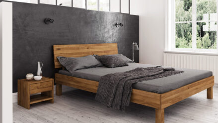 Holzbett Bett Eiche massiv Vigo
