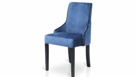eleganter Polsterstuhl samt blau