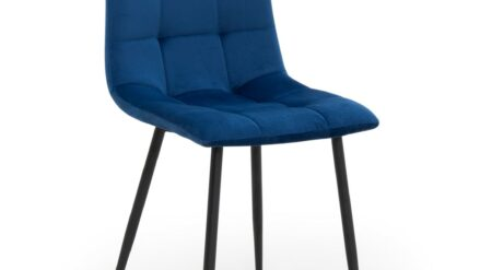 Stuhl polsterstuhl blau Alex