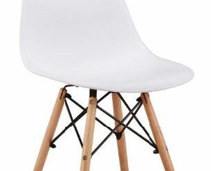 Design Stuhl Kunststoff weiß Amy
