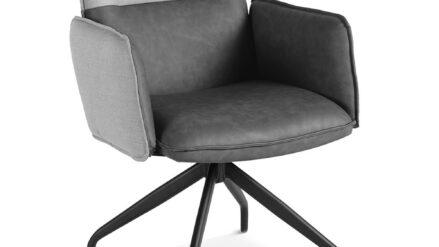 Drehstuhl Webstoff mit grauem Kunstleder