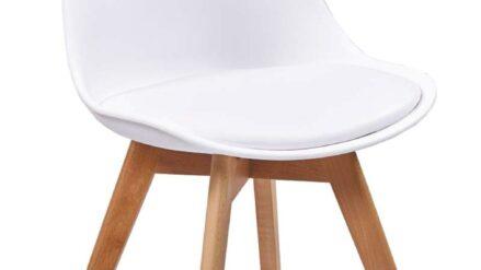 Designer-Stuhl Fiord plastic weiss