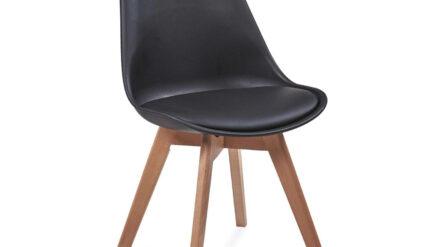 Design Stuhl Kunststoff schwarz Fiord
