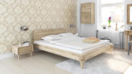 Holzbett eichebett Bett Eiche massiv Paris sofa&bett