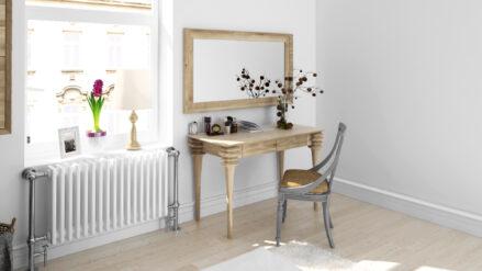 Schreibtisch schminktisch Eiche massiv Paris Sofa&bett