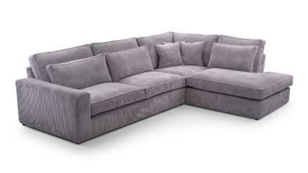 Ecksofa Cord grau sofa&bett