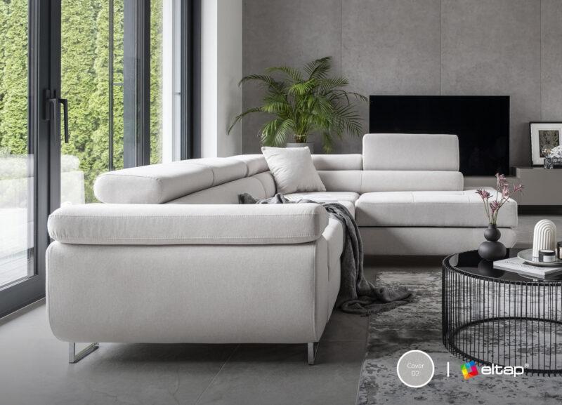 Ecksofa samt grau mit Schlaffunktion und bettkasten -sofaundbett.de Marseille