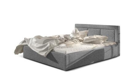 Polsterbett mit Bettkasten & Lattenrost webstoff grau - Monica 140x200cm 160x200 180x200 200x200