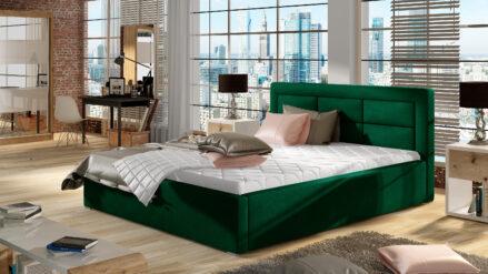 Bett Polsterbett petrolgrun grun dunkelgrun -140x200, 160x200, 180x200, 200x200 cm Ros