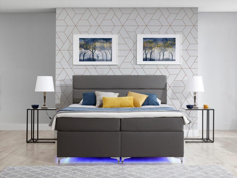 Boxspringbett mit LED blau - Richmond 2 Bettkasten