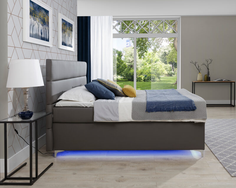 Boxspringbett mit LED im veiele farben - Richmond 2 Bettkasten