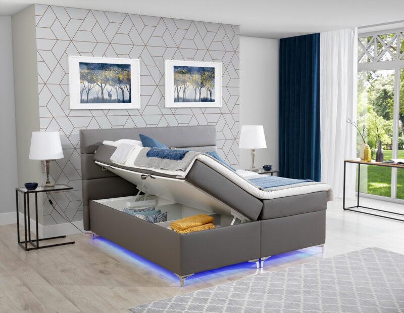 Boxspringbett mit LED - Richmond 2 Bettkasten