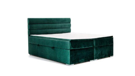 Boxspringbett mit Bettkasten 180x200 samt grün Seattle